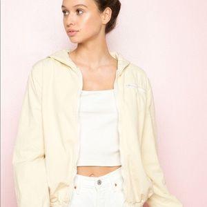 Brandy Melville pale yellow jacket